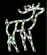 manufactured in China  cheap christmas deer plastic frame light bulb lamp  corporation