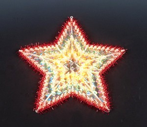 manufacturer In China cheap christmas star plastic frame light bulb lamp  company